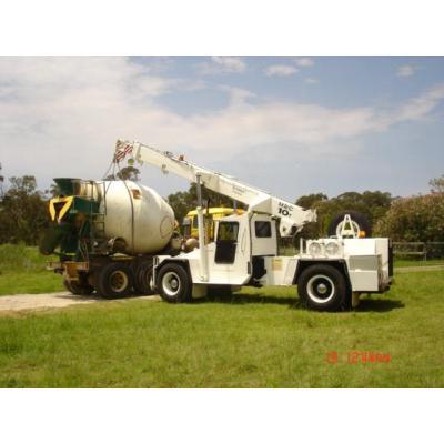 Crane lift - decommissioning concrete mixer