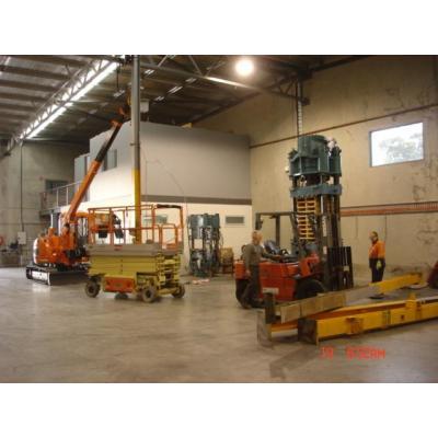Crane lift - install crane support beams