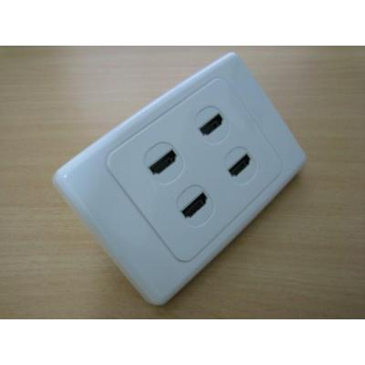 Quad HDMI Wall Plate.
