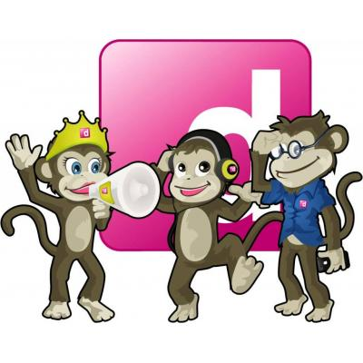 The dLook Mascots - Chatter, Funky and iMonkey