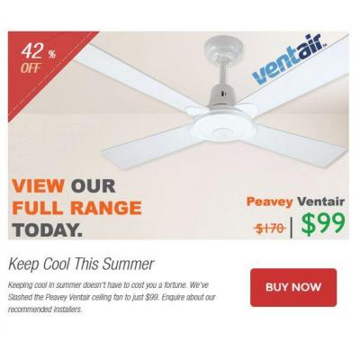 Keep Cool This Summer - Keeping cool in summer doesn't have to cost you a fortune. We've Slashed the
