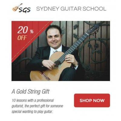 A Gold String Gift - 10 lessons with a professional guitarist, the perfect gift for someone special