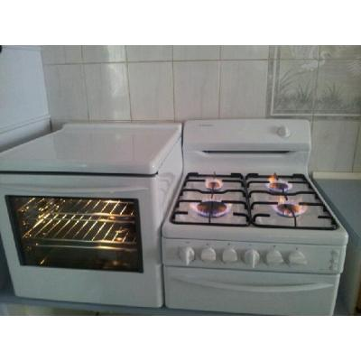 Gas oven & cooktop - Elevated stove installation