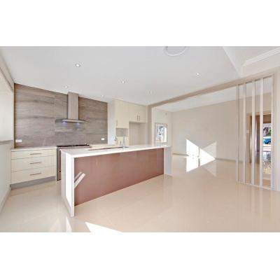 Modern kitchen - Men made stone top and polyurethane cabinet is still the choice for today's kitchen
