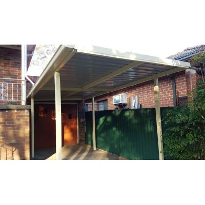 Carport - ColorBond roof and powdered coated steel frame carport offer you both the style and durabi