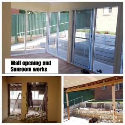 Wall opening and sunroom