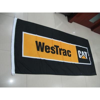 Custom Flag Westrac - Company Flag Knitted polyester