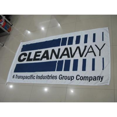 Custom Flag Cleanaway - Company flag knitted polyester material.