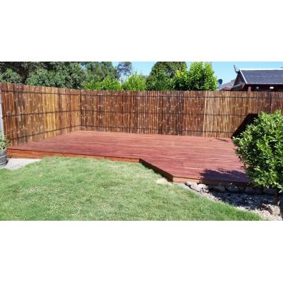 Decking with screens - This decking transformed an ugly neglected corner into a usable entertaining