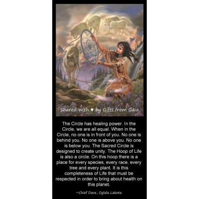6. The Circle - The Circle has healing power. In the Circle we are all equal.  Chief Dave, Lakota
