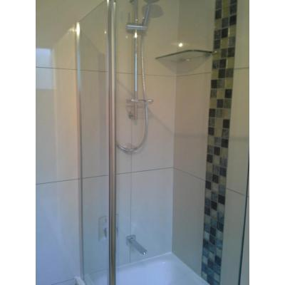 Shower over tub in Kallangur - This unit bath was a total redesign with a full tub and larger vanity