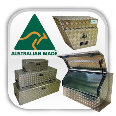 Australian made aluminium toolboxes - Quality Australian made aluminium checkerplate toolboxes.