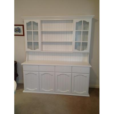 Wall units/ buffets - White spray painting, white lacquering, restoration.