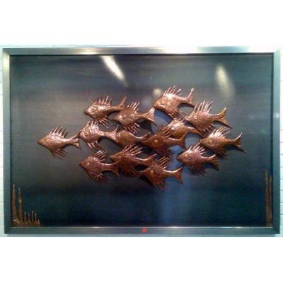 Nautical Wall Sculpture - Copper and steel nautical wall sculpture.