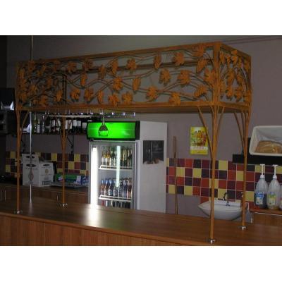 Wine and Glass Rack - Grape design rusted wine rack.