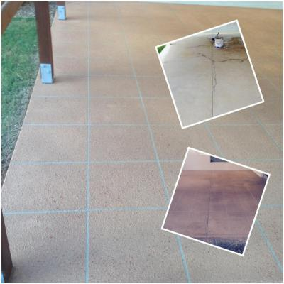 Decorative Concrete - A transformation of an old Patio