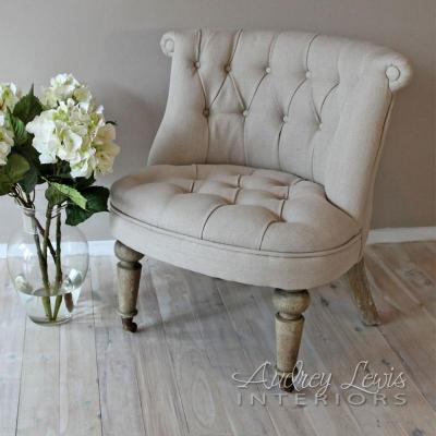 Hepburn Button back chair - http://www.audreylewisinteriors.com/shop.html