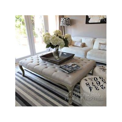 French style large Ottoman - http://www.audreylewisinteriors.com/shop.html