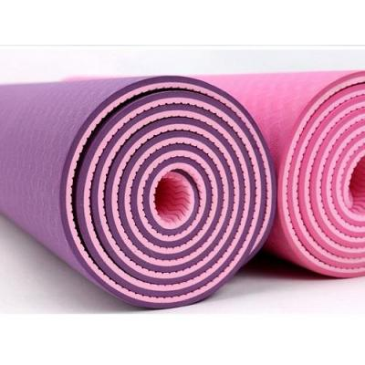 6mm TPE YOGA MAT - Light weight, easy to carry, beautiful shape, can be used for both sides.