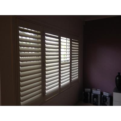 Internal window plantation shutters
