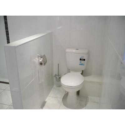 Partition wall - separated shower and toilet