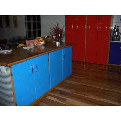 Bright kitchen - 4 bright colored 2 pack doors