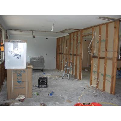Before kitchen - removed and re-positioned door to enlarge kitchen