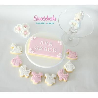 Baby Girl Cookies Melbourne - Baby Girl Cookies! Congratulate someone on their new little girl (or b