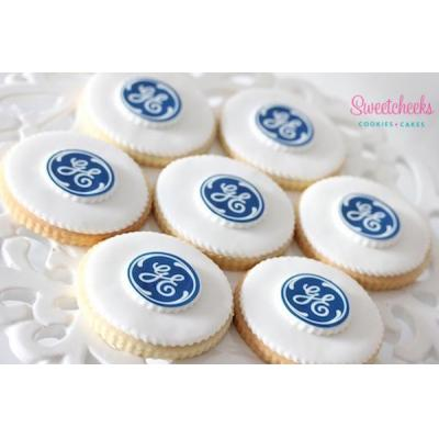 Corporate Cookies Melbourne - Corporate cookies - custom cookies with your logo or chosen image deli