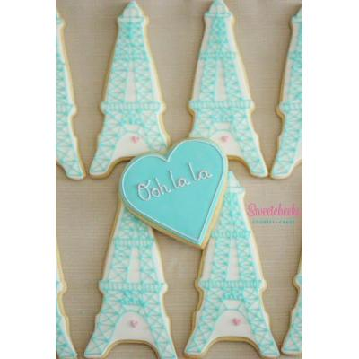Eiffel Tower Paris Themed Cookies Victoria - Paris Themed birthday parties are so chic, so elegant a
