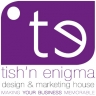 tish'n enigma ~ brand specialists. logo