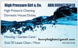 High Pressure Girl & Co Cleaning - Lawn Mowing Maryland logo