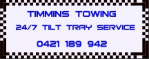 Timmins Towing 24/7 Tilt Tray Service - Towing Services QLD logo