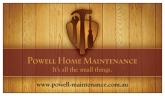 Powell Home Maintenance - Handyman Patterson Lakes logo