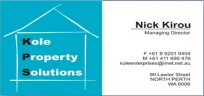 Kole Property Solutions - Project Management North Perth logo