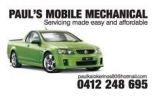 Mobile Mechanic Brisbane Paul's Mobile Mechanical logo
