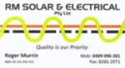 RM Solar & Electrical Services | Globe Derby Park Adelaide logo