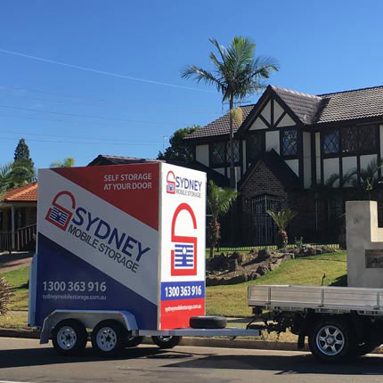 Mobile Storage Box Being Delivered In Bankstown Sydney NSW